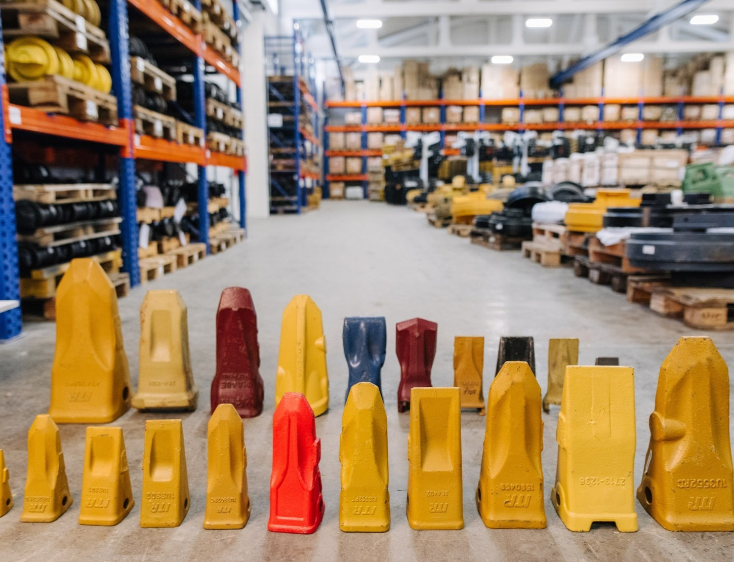 A wide range of the parts for a wide range of construction and heavy machinery